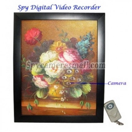 Spy Picture Camera DVR - Painting Digital Video Recorder with Remote Control 4GB Hidden Pinhole Camera DVR