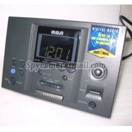 hidden Spy Clock Cameras - RCA Digital tuner / LCD / Clock Radio Hidden Pinhole Camera 720P 16GB Motion Detection