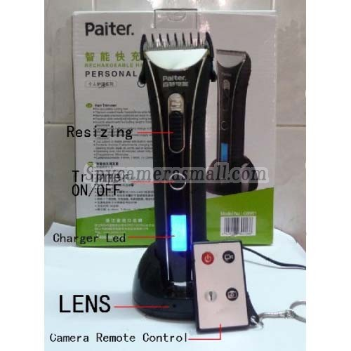 trimmer spy camera - remote control 32gb spy hair trimmer hidden