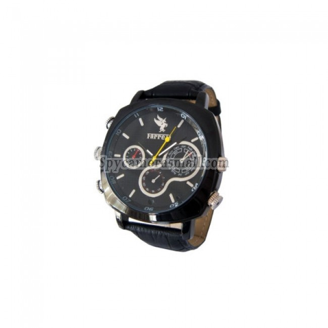 hidden Spy Watch Cameras - 1080P HD Waterproof Stainless Cover Spy Watch with Web Camera (4GB)