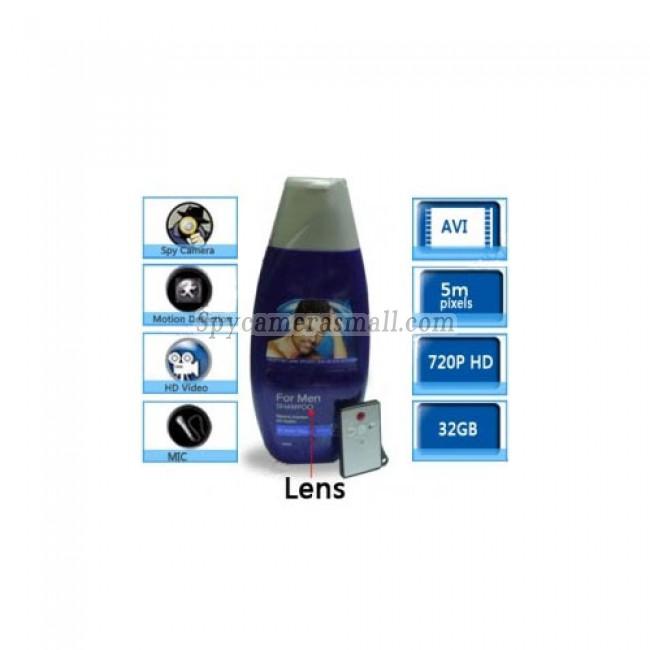 Bathroom Spy Cam Shampoo Shower Gel Camera - HD 32GB Bathroom MEN'S Shampoo Spy Camera Motion Detection Spy Camera 720P DVR Remote Control