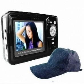 Wearing Class Hidden Spy Camera - Wireless Spy Camera-2.4GHZ Baseball Cap Camera Recorder